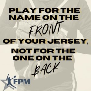 Play for the name on the front
