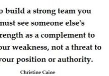 to build a strong team